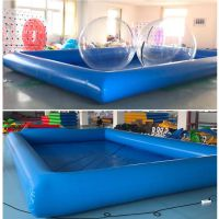 小型充气水池设备价位 游乐场娱乐充气水池什么材料 玩水玩具充气大型水池