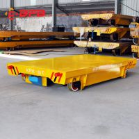 可定制链板机对接专用电动轨道平车 集装箱铁轨平板货车 终身保修