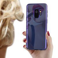 三星S9手机壳电镀镜面手机套galaxy s9plus渐变tpu软壳蓝光保护套