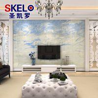 圣凯罗瓷砖背景墙 现代简约微晶石电视墙 仿大理石瓷砖 海纳百川