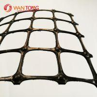 山东泰安万通土工材料厂家销售双向塑料土工格栅 耐腐蚀抗老化