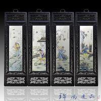 景德镇瓷板画中式装饰画手绘人物瓷板画景德镇陶瓷画?