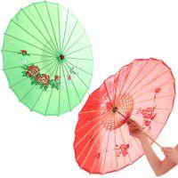 傣族舞孔雀舞蹈伞道具 仿绸竹木制太阳伞 仿绸纱装饰工艺伞