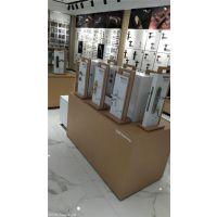 白色烤漆智能锁具展示架  样品锁具中岛柜展台