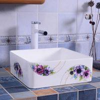 简约台上盆方形陶瓷卫生间洗手洗脸盆