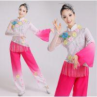 秧歌服春夏女扇子舞蹈服古装服装古典民族演出服伴舞服舞台表演服
