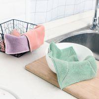抹布吸水不掉毛加厚擦桌布厨房百洁布不沾油清洁擦手巾棉质洗碗布