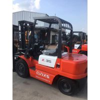 转让杭州3吨CPCD30H柴油叉车二手TCM合力3吨叉车