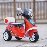 新款儿童电动摩托车电动三轮车宝宝电瓶车小木兰童车厂家一件代发