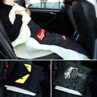 潮牌汽车抱枕被子两用靠垫多功能车载抱枕加厚车内礼品午睡空调被