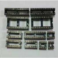圆孔IC插座芯片底座IC-6/8/14/16/18/20/24/28/32/40P集成座2.54