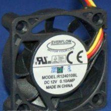 EVERFLOW R124010BH R124010BL DC12V 0.10A 3线4CM散热风扇