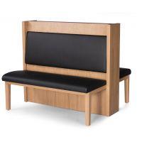 悦方咖啡厅桌椅组合 奶茶店火锅店卡座 西餐厅ktv沙发双面卡座 实木椅