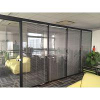 办公室新型玻璃隔断 成品玻璃百叶隔断 厂家的优势