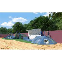 定制生态幼儿园户外设计 原木拓展滑梯设施 大型树屋滑梯 木质组合滑梯 原生态攀爬架