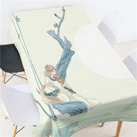 古典仕女 森林溪涧多功能桌布 上万图案可选 数码印花 厂家直批