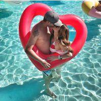 游泳圈充气加厚男女成人爱心泳圈大号儿童腋下圈火烈鸟网红救生圈