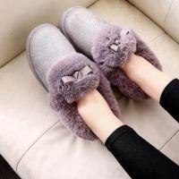 2018时尚韩版棉拖鞋女冬季包跟保暖居家居厚底室内外棉鞋新款