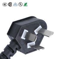 热卖国标CCC认证0.5mm2,0.75mm2,1.0mm2橡胶线3芯插头线