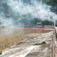 三级电站隔离漂浮物拦污排水面拦污带