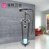 立体式铜冷热花洒套装 落地式浴缸淋浴龙头 加工定制酒店淋浴喷头
