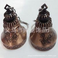 厂家定做复古红铜色喇叭铃铛 龙凤情侣铃铛 创意铜铃铛挂件批发