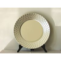 创意塑料餐盘餐垫塑料制品pp鱼鳞装饰边YF-60904赣州厂家