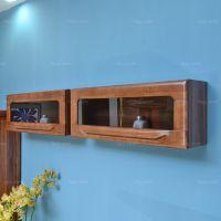 弧把手钢璃闭柜 钦州方体门壁柜 玉林中式现代家具