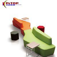 办公室休闲沙发组合 简约商务接待布艺沙发 休闲会客创意沙发组合
