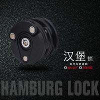 自行车锁山地车单车配件电动车固定折叠锁自行车锁防盗链条汉堡锁
