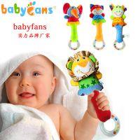 babyfans婴儿玩具手摇铃岁宝宝卡通动物安抚公仔批发儿童帐篷布书