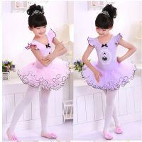 儿童舞蹈服装练功服女童芭蕾舞裙纯棉考级服体操服幼儿夏季短袖