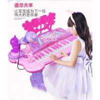 儿童电子琴带麦克风1-3-6岁女孩早教益智可充电小孩宝宝钢琴
