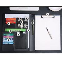 A4合同文件夹定制活页本资料夹板皮面签约本多功能办公用品经理夹