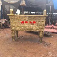 供应村庄长方形铸铁香炉鼎 江西新余佛堂铸铁香炉厂家