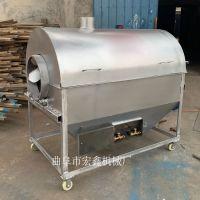 新型电加热瓜子滚筒炒锅 自动翻炒电炒料机 300公斤大型炒大豆机厂家定做