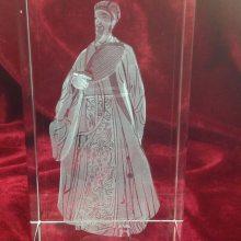 屈原图像水晶内雕纪念品,文化节日水晶摆件,深圳水晶内雕价格