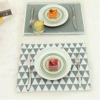 【加厚材质】欧式简约卡通图案桌面布垫西餐垫 棉麻桌垫 盘子垫