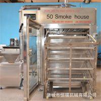 张红肠蒸煮烟熏炉 哈尔滨红肠蒸煮烟熏炉 腊肠肠腊肉烟熏箱设备