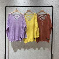 马丝蓓短款紧身显瘦毛衣春季品牌女装折扣