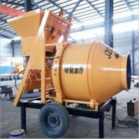 卓辉供应混凝土滚筒搅拌机 加厚筒体500型全自动爬斗式水泥搅拌机