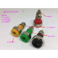 JXZ-2型接线柱6mm香蕉插座面板开孔16mm 纯铜高压大电流接线端子