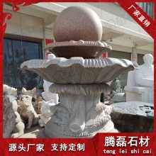 惠安厂家直销石雕风水球 九龙星大理石风水球定做