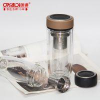 匡迪/华象071号水晶玻璃杯 商务玻璃杯子 礼品杯双层水晶玻璃杯