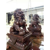 无锡看门铜狮子雕塑铸造厂-博轩铜雕塑