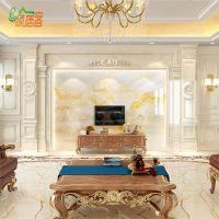 厂家直销罗马柱电视背景墙瓷砖现代简约欧式客厅微晶石材边框装饰