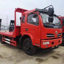 供应东风多利卡120挖机平板拖车 东风120挖机平板拖车厂家