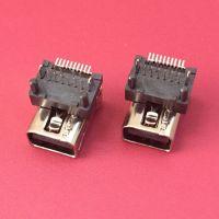 MINI DISPLAYPORT垫高型母座/加高型/前插后贴/DIP+SMT/有柱/插板式