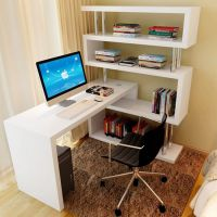 电脑台式桌家用旋转电脑桌办公桌简约现代转角书桌书架组合写字台