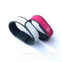 圆头硅胶手腕带 RFID感应识别手牌 圆形闭合硅胶腕带 I-CODESLI-X